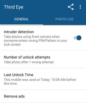 app that takes pic of person unlocking phone