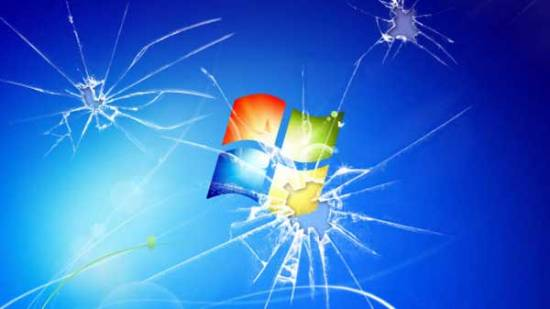 windows 7 cracked screen wallpaper
