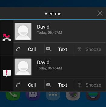 android missed call notification app