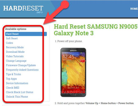 how to reset a samsung galaxy