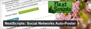 NextScripts Plugin:Share Post Automatically on Social Network