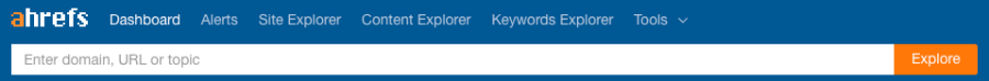 ahrefs search bar