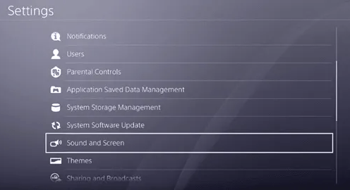 Play station 4 Settings
