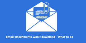 Email attachment wont download