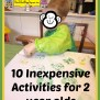 Ten Inexpensive Activities For Two Year Olds How To Run