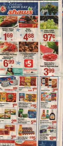 Shaws Weekly Flyer Sale - Year of Clean Water