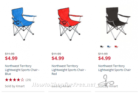 northwest territory chairs craftsman style 5 sports how to shop for free with kathy spencer kmart com has lightweight on sale under each these are perfect easily toting you camp the beach