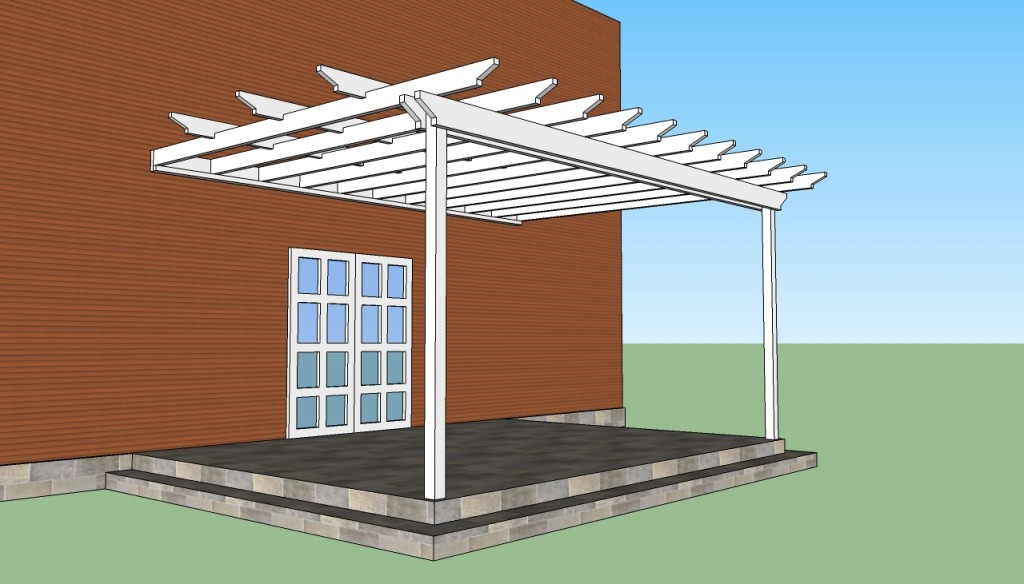 Attached Pergola Plans Howtospecialist How To Build