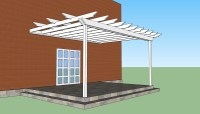 Attached pergola plans   HowToSpecialist - How to Build ...