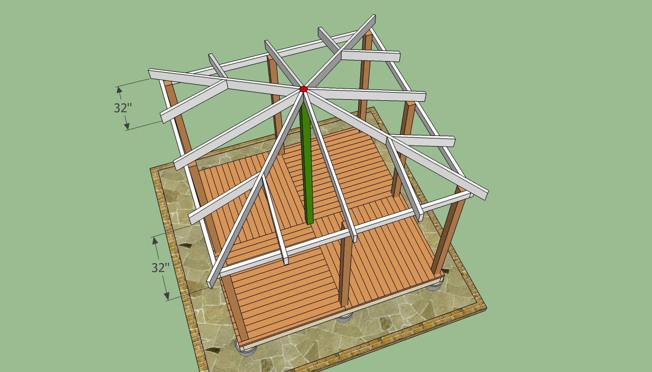 Rectangular Gazebo Plans Howtospecialist How To Build