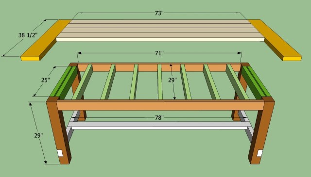 Building a farmhouse table