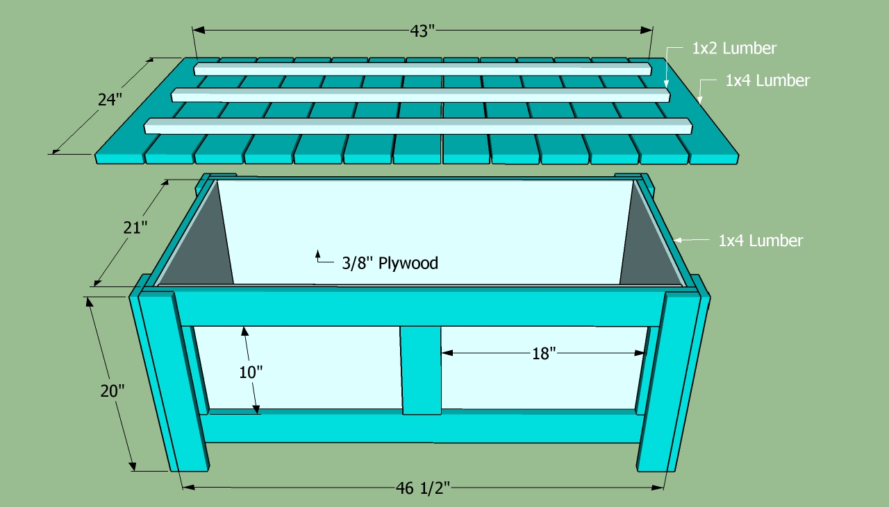 plans to build a storage bench