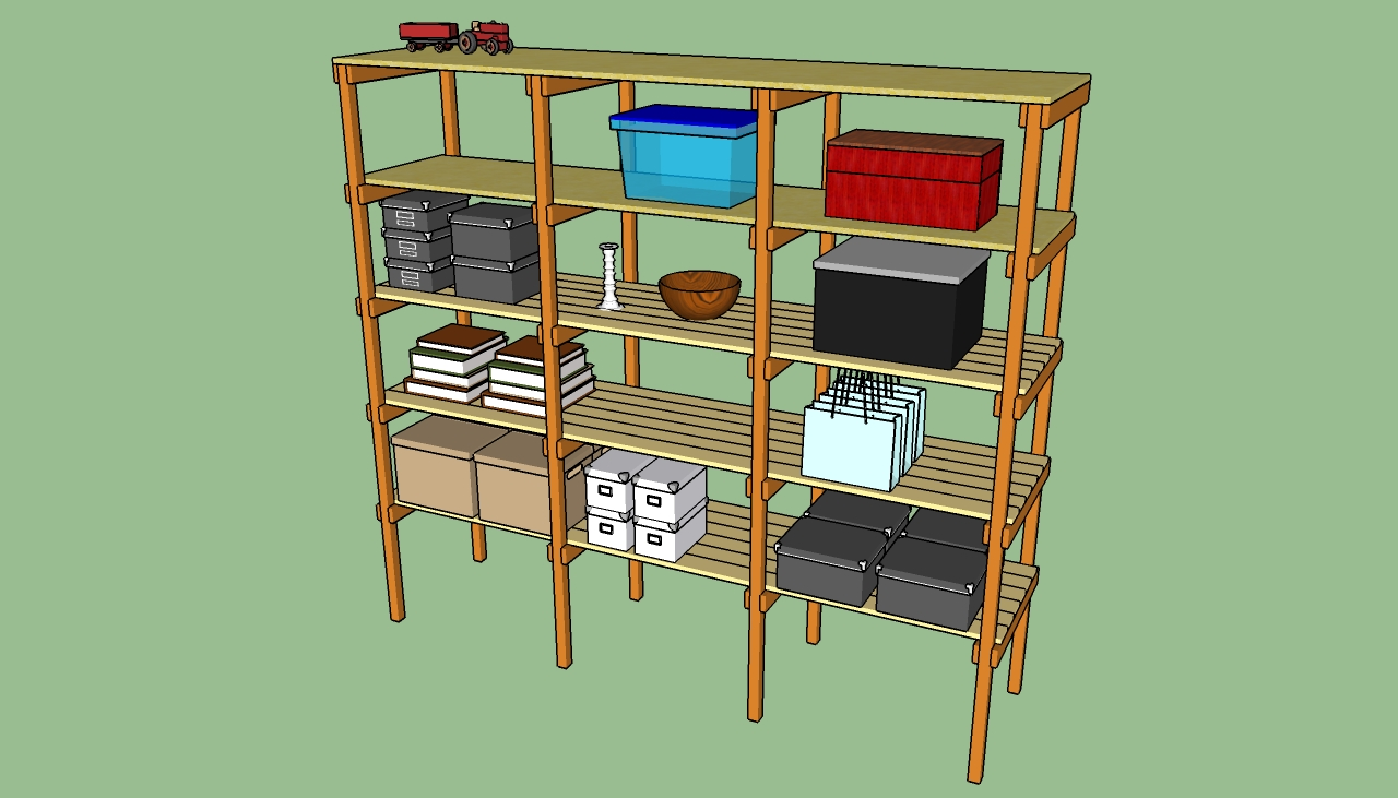 how to build wood storage shelves