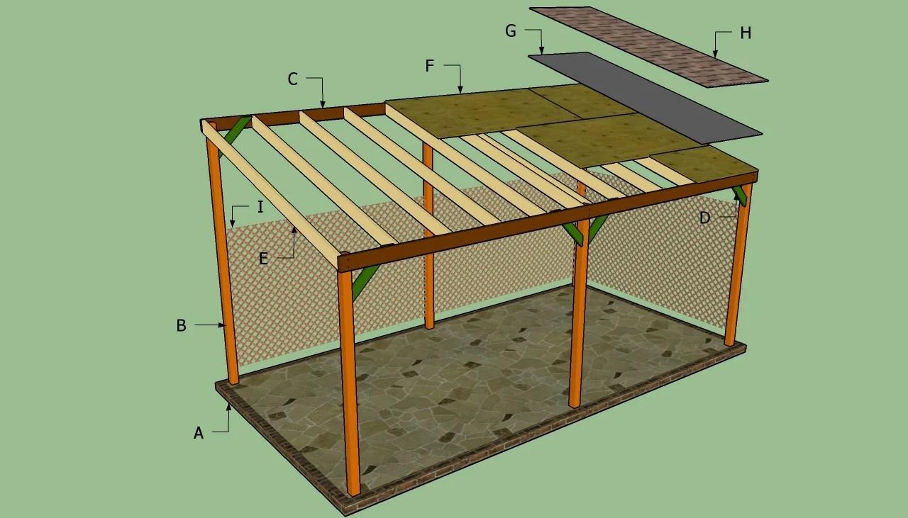 metal lean to carport plans