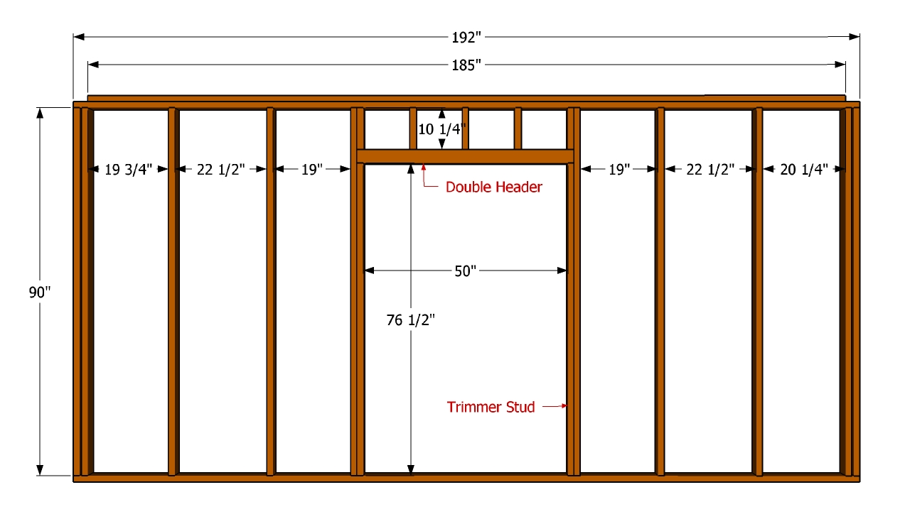 Door Frame: Building A Stud Wall With Door Frame