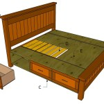How To Build A Bed Frame With Drawers Howtospecialist How To Build Step By Step Diy Plans