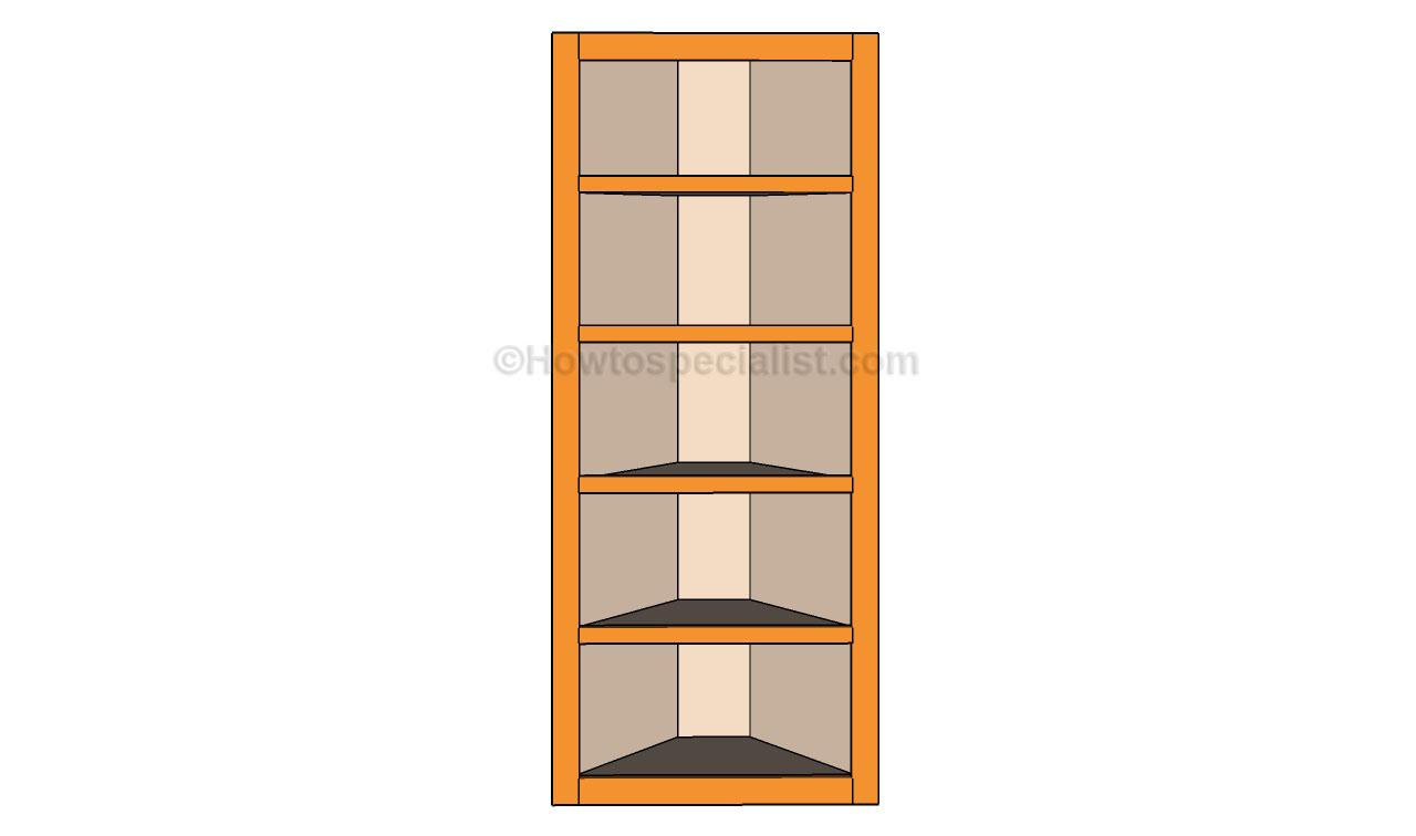 free wood corner shelf plans