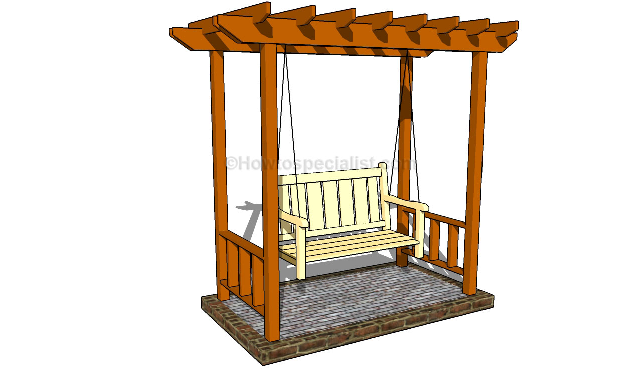 Build diy outdoor arbor swing plans plans wooden how to for Plans for arbors