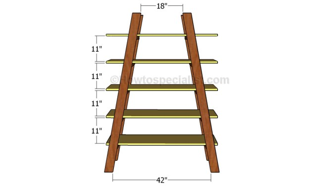 How to build ladder shelves   HowToSpecialist - How to Build, Step by ...