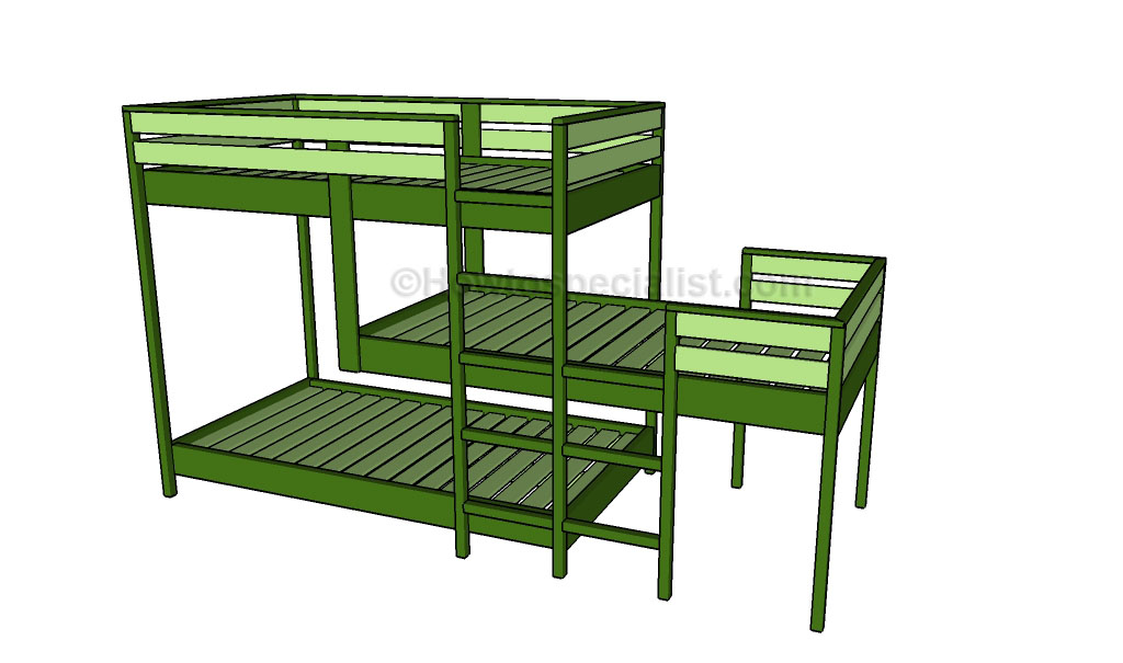 How To Build Build Triple Bunk Bed Plans Plans Woodworking