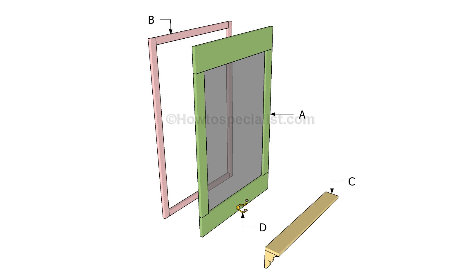 Mirror coat rack plans