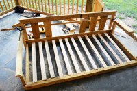 how to build a porch bed diy porch swing howtospecialist ...