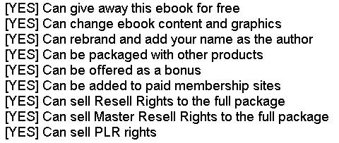 [PLR] Easy List Hacks + Transferable PLR Rights