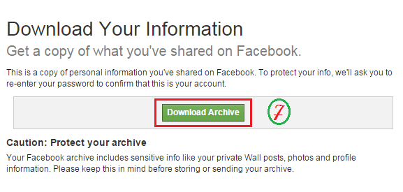 Download Facebook Files