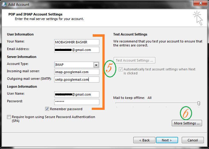 configure gmail to outlook