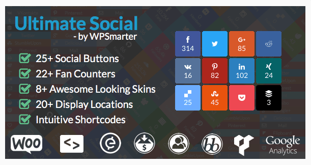 Ultimate Social - Easy Social Share Buttons and Fan Counters for WordPress Best WordPress Social Media Share Plugin