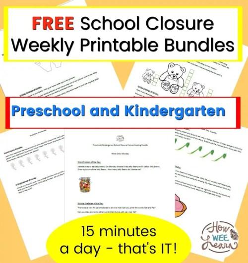 small resolution of Preschool and Kindergarten School Closure Homeschooling Printables - How  Wee Learn