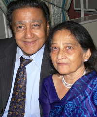 Manu Chandaria, chairman of Comcraft Group, and his wife Aruna