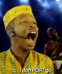 Nigerian actor Hafiz Oyetoro (popularly known as Saka) in MTN's 'I don port' advert.