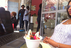 Yogurt-Inn is Ethiopia's first frozen yogurt store.