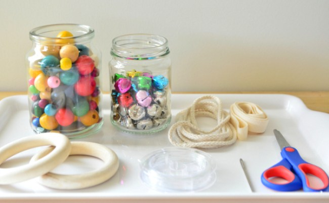 Diy Montessori Baby Toys Using Wooden Rings And Beads