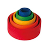 Set of 5 Small Wooden Stacking & Nesting Rainbow Bowls