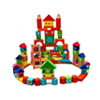 Numeric Wooden Block Construction Building Set Colored