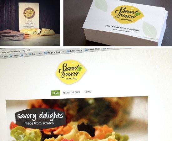 Howzit Media Marketing - Sweet Lemon Catering marketing layout