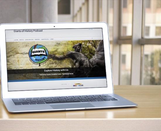 Howzit Media Marketing, Giants Of History website design
