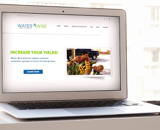 Waterwise Landscape Solutions, website design mockup
