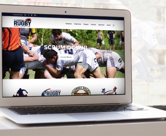 Fort Lauderdale rugby Website Design