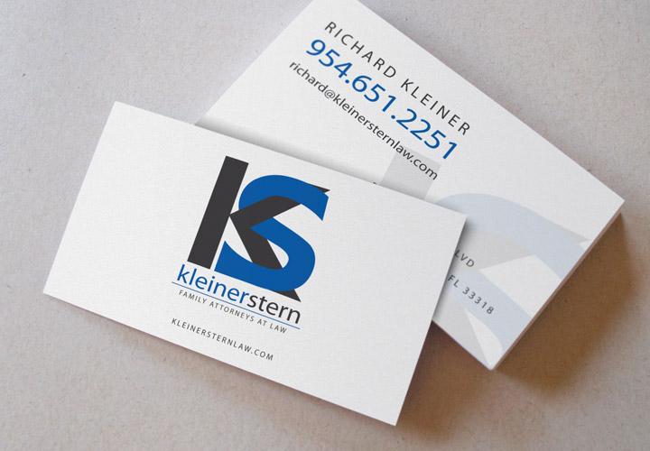 Kleiner Stern Attorneys business card branding