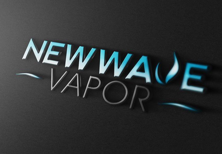 New Wave Vapor logo branding