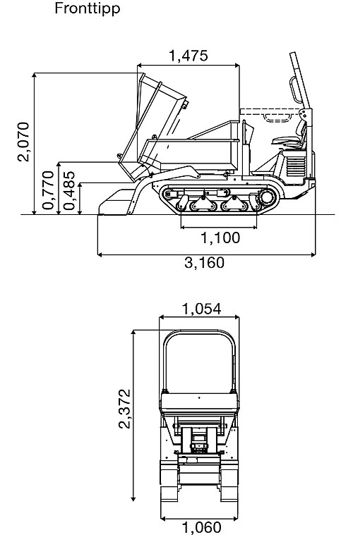 wacker-neuson-DT-15-diagram-fronttip