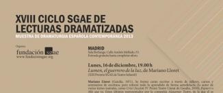 Ir al evento: LUMEN, EL GUERRERO DE LA LUZ de Mariano Lloret