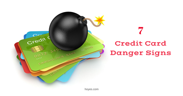 credit card debt danger signs