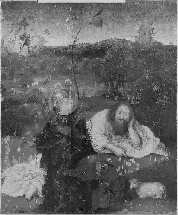 El Bosco. Meditaciones de San Juan Bautista, 1490 (Fotografía infrarroja)