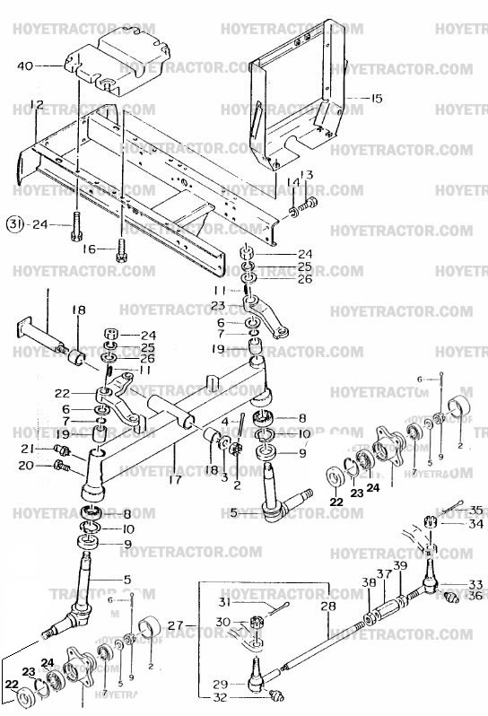 FRONT_AXLE_2WD: Yanmar Tractor Parts