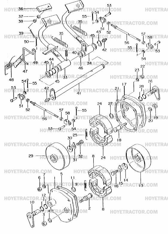 BRAKES: Yanmar Tractor Parts