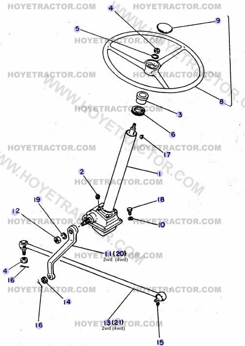STEERING_EXTERNAL: Yanmar Tractor Parts